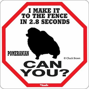 Pomeranian 2.8 Seconds Sign