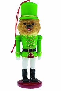 Pomeranian Ornament Nutcracker