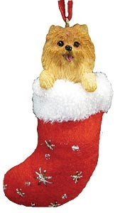 Pomeranian Christmas Stocking Ornament