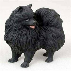 Pomeranian Figurine Black