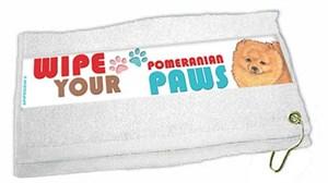Pomeranian Paw Wipe Towel