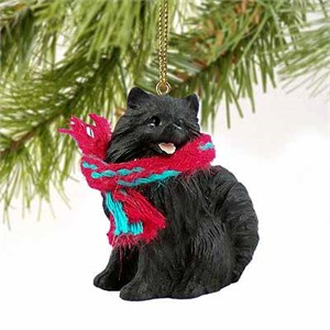 Pomeranian Tiny One Christmas Ornament Black