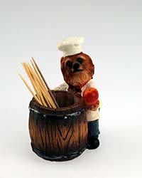 Pomeranian Toothpick Holder