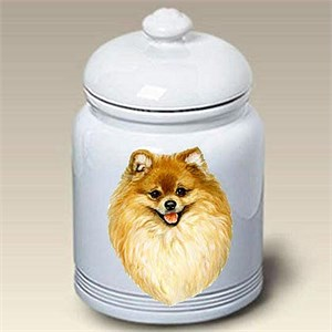 Pomeranian Treat Jar