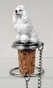 Poodle Bottle Stopper (White)