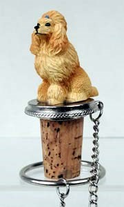Poodle Bottle Stopper (Apricot)
