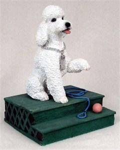 Poodle Figurine White Sport Cut MyDog