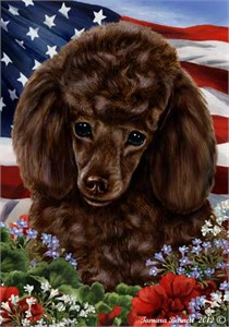 Poodle House Flag Chocolate