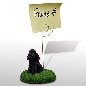 Poodle Note Holder (Black Sport cut)
