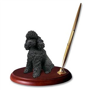 Poodle Pen Holder (Black Sport cut)