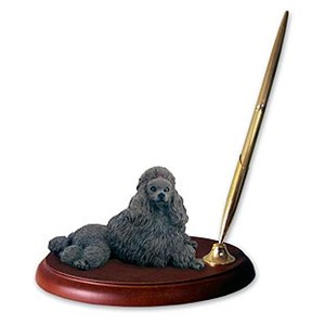 Poodle Pen Holder (Chocolate)