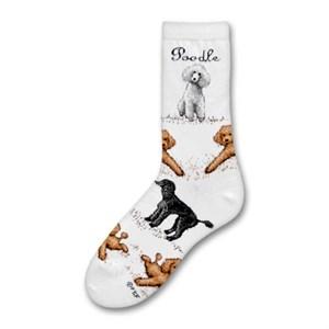 Poodle Poses Socks