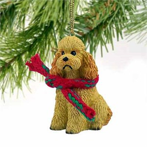 Poodle Tiny One Christmas Ornament Apricot Sport Cut