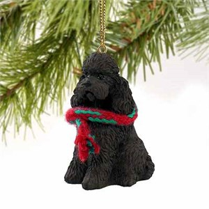 Poodle Tiny One Christmas Ornament Chocolate Sport Cut