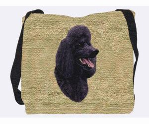 Poodle Tote Bag (Black)
