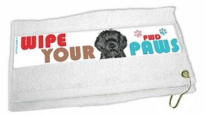 Portuguese Water Dog Paw Wipe Towel