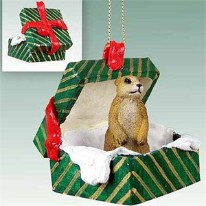Prairie Dog Gift Box Christmas Ornament