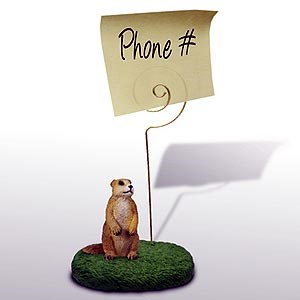 Prairie Dog Note Holder