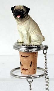Pug Bottle Stopper (Fawn)