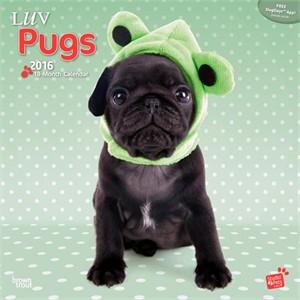 Luv Pugs By Myrna Calendar 2015