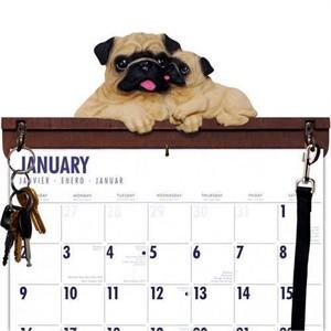 Pug Calendar Caddy