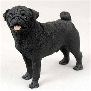 Pug Figurine Black