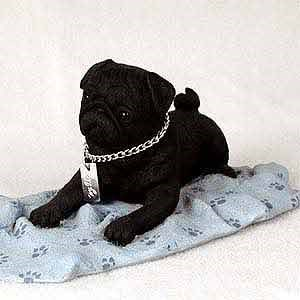Pug Figurine Black MyDog