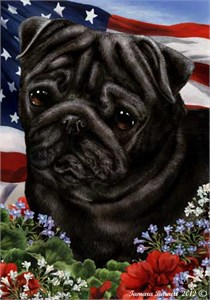 Pug House Flag Black