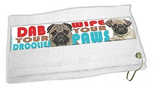 Pug Paw Wipe Towel