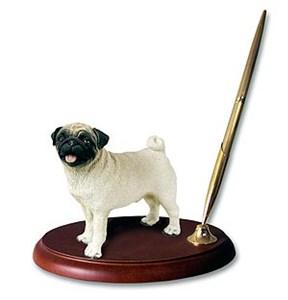 Pug Pen Holder (Fawn)