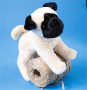 Pug Plush Stuffed Animal 8 Inch