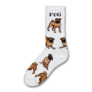 Pug Poses Socks