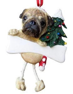 Pug Christmas Tree Ornament - Personalize