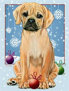 Puggle Christmas Cards