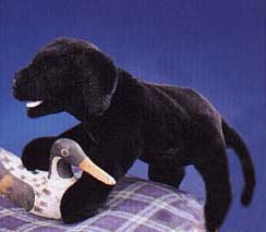Black Lab Puppet