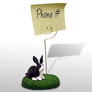 Rabbit Note Holder (Black & White)