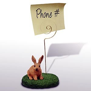 Rabbit Note Holder (Brown)
