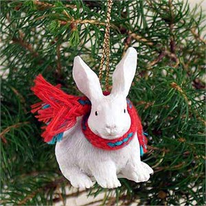 Rabbit Tiny One Christmas Ornament White