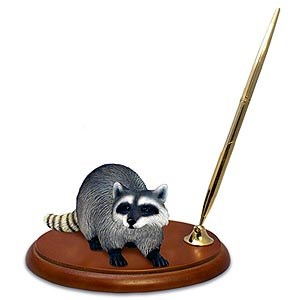 Raccoon Pen Holder