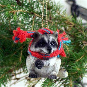 Raccoon Tiny One Christmas Ornament