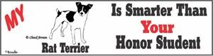 Rat Terrier Bumper Sticker Honor Student