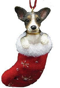 Rat Terrier Christmas Stocking Ornament