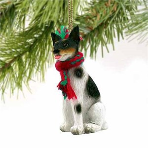 Rat Terrier Tiny One Christmas Ornament