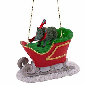 Razorback Sleigh Ride Christmas Ornament
