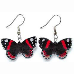 Red Admiral Butterfly Earrings True to Life