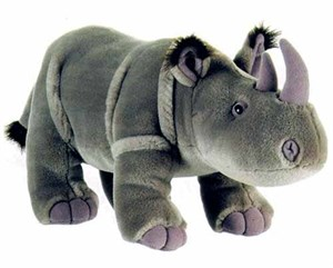 Standing Rhino Plush Stuffed Animal 14""