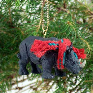Rhinoceros Tiny One Christmas Ornament