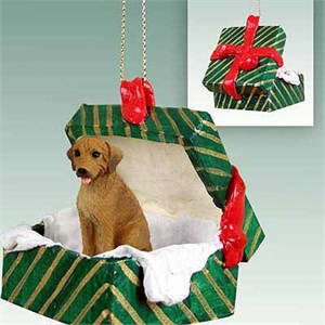 Rhodesian Ridgeback Gift Box Christmas Ornament