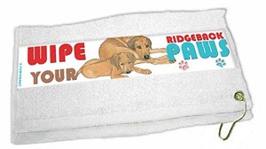 Rhodesian Ridgeback Paw Wipe Towel