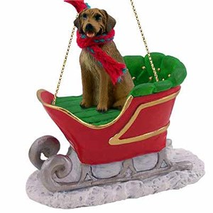 Rhodesian Ridgeback Sleigh Ride Christmas Ornament